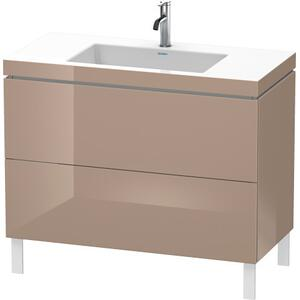 Furniture Washbasin C-bonded With Vanity Floorstanding, Cappuccino High Gloss (lacquer)