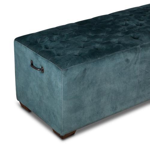 """D'Orsay 78"""" Upholstered Green Velvet Bench"""