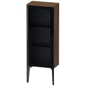 Semi-tall Cabinet With Mirror Door Floorstanding, Walnut Dark (decor)