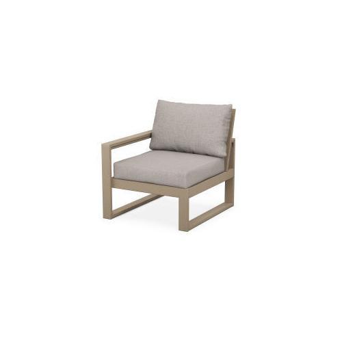 EDGE Modular Left Arm Chair in Vintage Sahara / Weathered Tweed