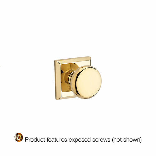 Baldwin - Polished Brass Round Reserve Knob
