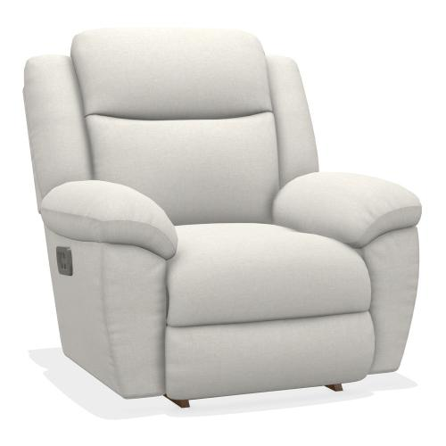 Joel Power Rocking Recliner w/ Head Rest & Lumbar