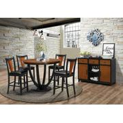 Boyer Transitional Amber and Black Side Chair Product Image