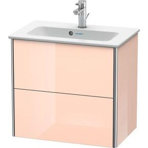 Vanity Unit Wall-mounted Compact, Apricot Pearl High Gloss (lacquer)