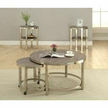 ACME Elwyn 2Pc Coffee Table - 80385 - Walnut & Brushed Nickel