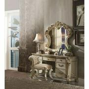 ACME Vendome Vanity Desk - 23007 - Gold Patina & Bone Product Image