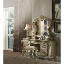 ACME Vendome Vanity Desk - 23007 - Gold Patina & Bone