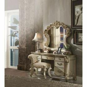 ACME Vendome Vanity Desk - 23007 - Gold Patina & Bone