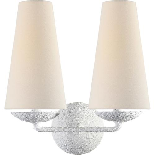 AERIN Fontaine 2 Light 13 inch Plaster Double Sconce Wall Light