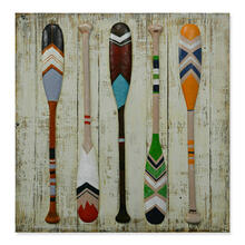 Paddles 32x32 Wood and Metal Wall Art