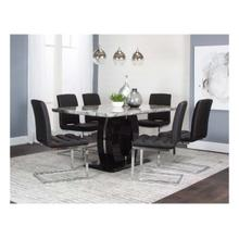 Dyane 7pc Dining Set (black)