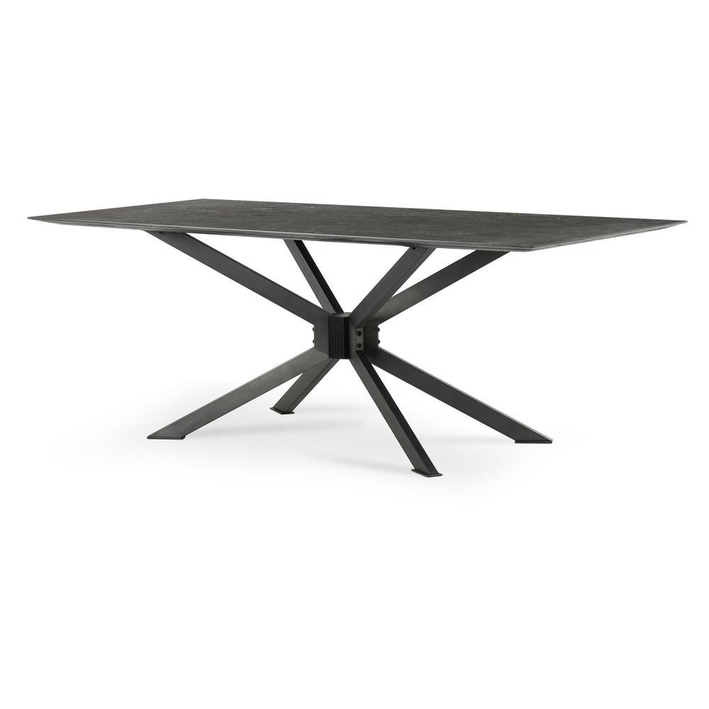 "Bluestone Finish 79"" Size Spider Dining Table"