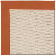 Creative Concepts-White Wicker Canvas Rust Machine Tufted Rugs