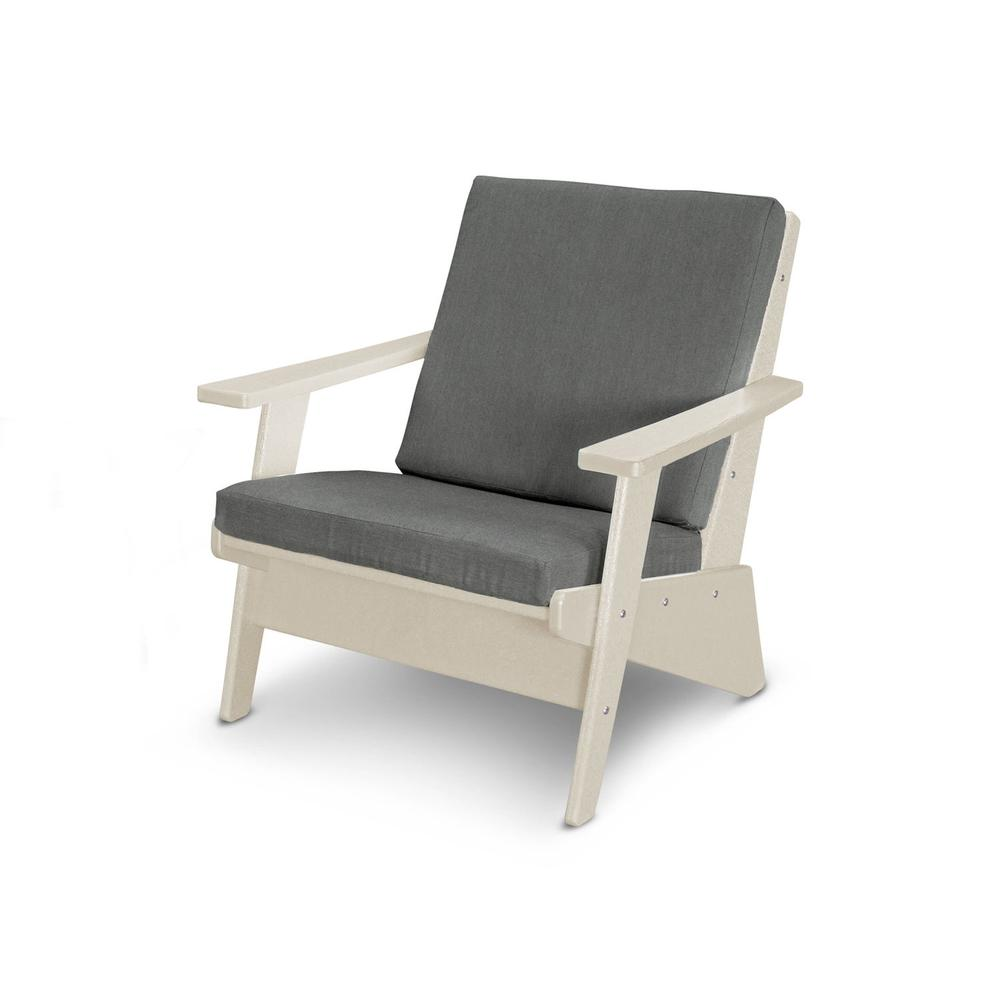Sand & Blend Coal Riviera Modern Lounge Chair