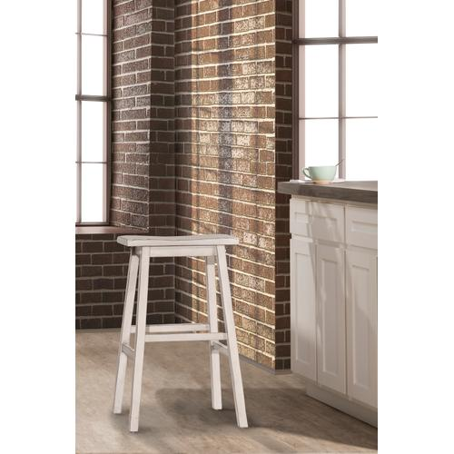 Moreno Backless Counter Stool - Sea White