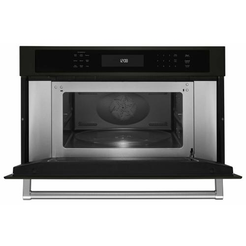 """KitchenAid - 30"""" Built In Microwave Oven with Convection Cooking - Black Stainless Steel with PrintShield™ Finish"""