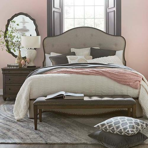King/Provence Brandy Provence Upholstered Bed