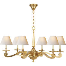 Alexa Hampton Myrna 6 Light 33 inch Natural Brass Chandelier Ceiling Light