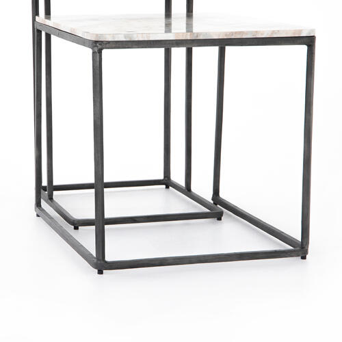 Creamy Taupe Finish Jewel Nesting End Table