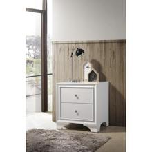WHITE NIGHTSTAND W/TWO DRAWERS