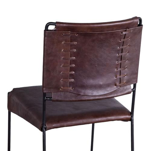 New York Counter Chair Chocolate Leather