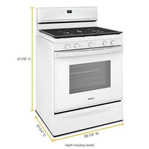Whirlpool - 5.0 cu. ft. Whirlpool® gas convection oven with Frozen Bake™ technology