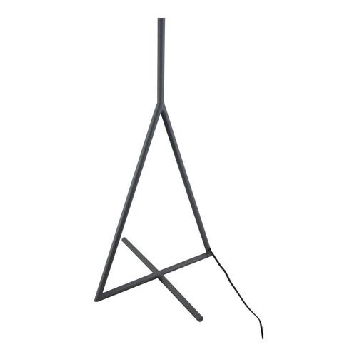Newman Floor Lamp Grey With Black Shade