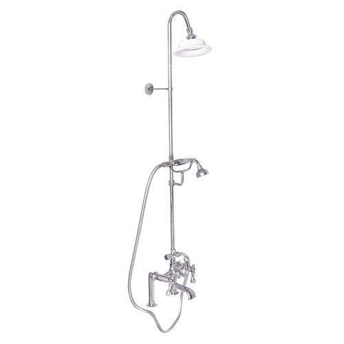Tub Filler with Diverter Hand-Held Shower and Riser - Lever / Polished Chrome