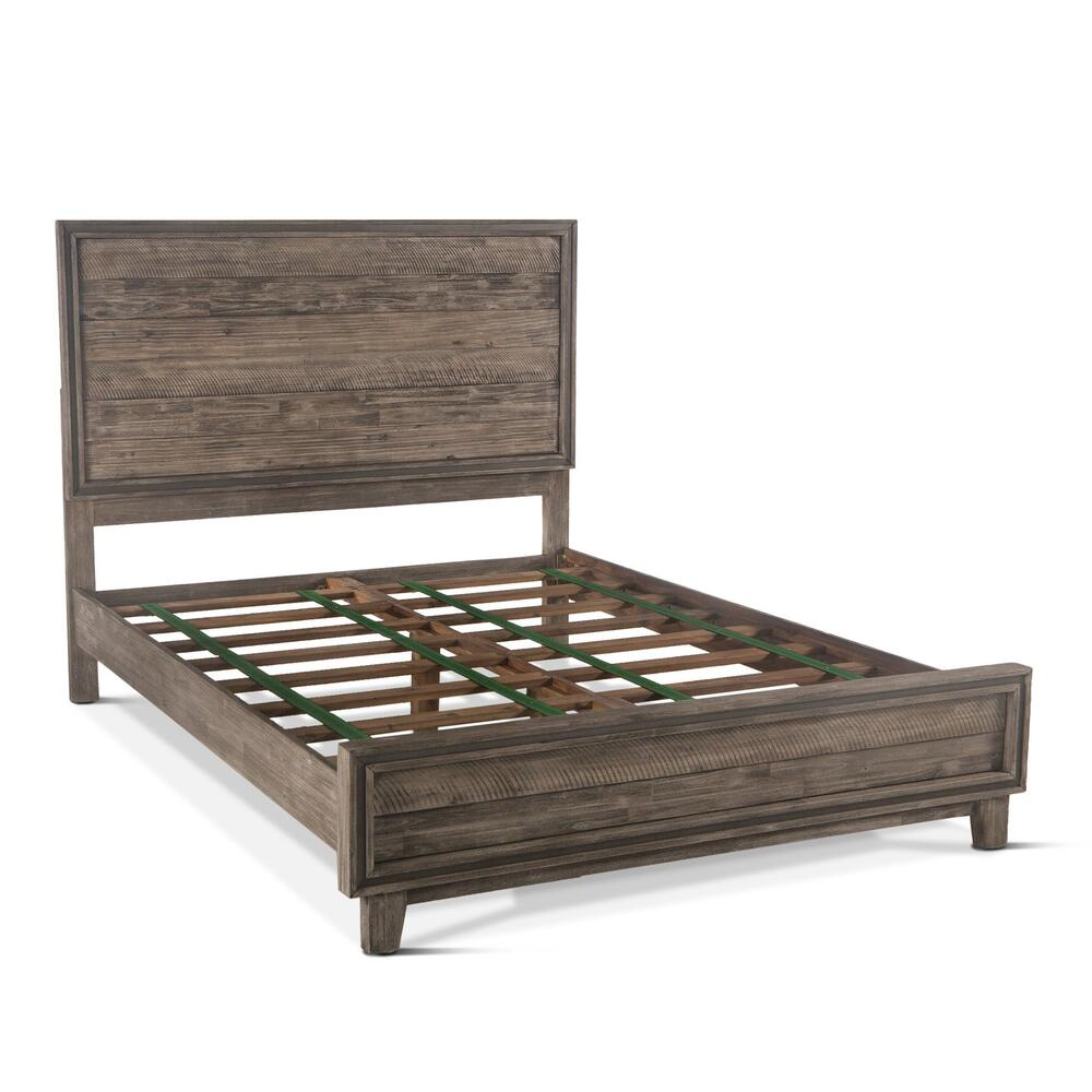 Driftwood Platform Bed Weathered Graywash