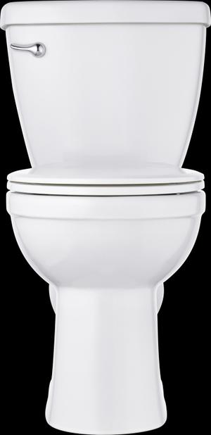White Round Front Toilet Product Image