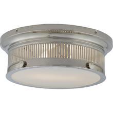 E. F. Chapman Alderly 2 Light 13 inch Polished Nickel Flush Mount Ceiling Light