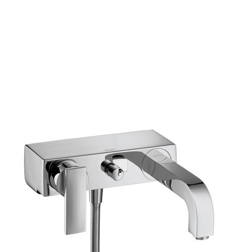 Brushed Gold Optic Single lever bath mixer for exposed installation with lever handle