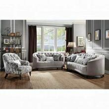 ACME Saira Loveseat w/3 Pillows - 52061 - Light Gray Fabric