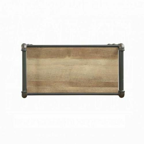 ACME Itzel Bookshelf - 97164 - Antique Oak & Sandy Gray