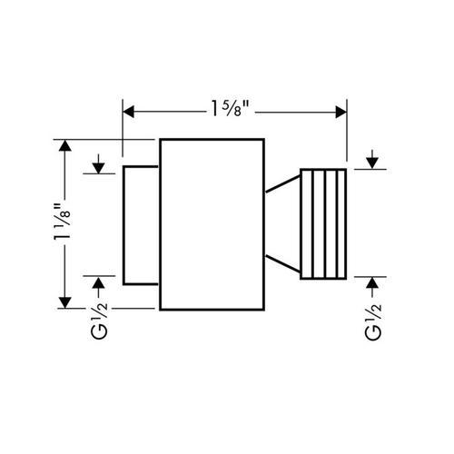 Brushed Nickel External Vacuum Breaker