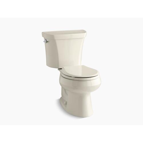 Kohler - Almond Two-piece Round-front Dual-flush Toilet