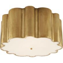 Alexa Hampton Markos 4 Light 26 inch Natural Brass Flush Mount Ceiling Light