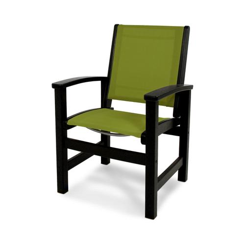 Black & Kiwi Coastal Dining Chair