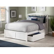 Richmond Full Flat Panel Foot Board with 2 Urban Bed Drawers White