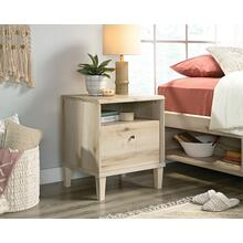 1-Drawer Night Stand with Open Shelf Storage