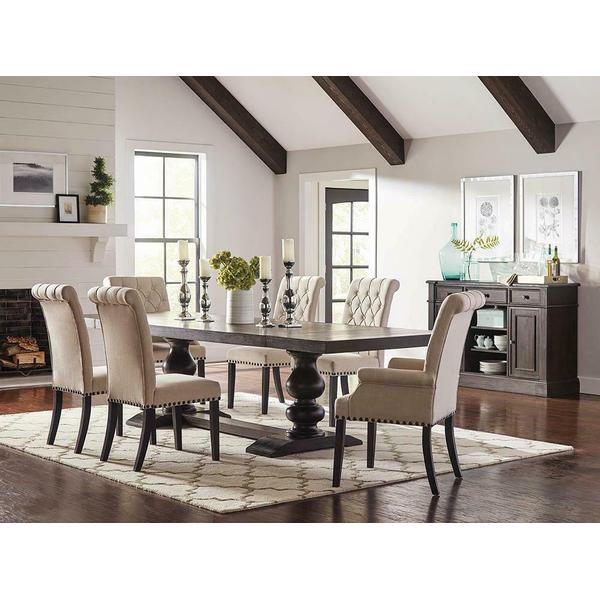 See Details - Phelps Traditional Antique Noir Dining Table
