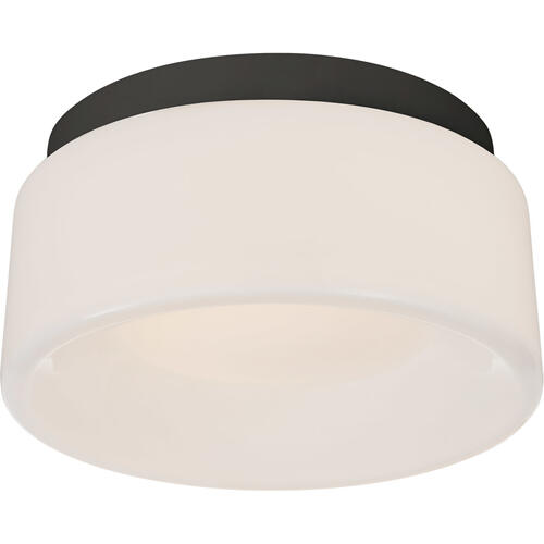 Barbara Barry Halo LED 6 inch Matte Black Flush Mount Ceiling Light, Petite