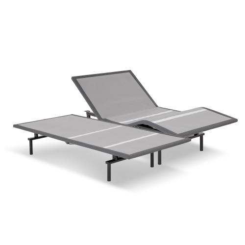 Leggett and Platt - Pro-Motion 2.0 Low-Profile Adjustable Bed Base with Simultaneous Movement and MicroHook Technology, Charcoal Gray Finish, Split California King