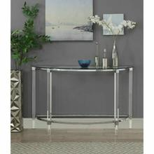 ACME Reva Sofa Table - 80500 - Clear Acrylic - Chrome & Clear Glass