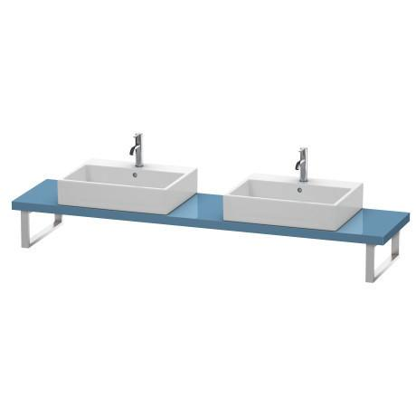 Product Image - Console For Above-counter Basin And Vanity Basin Compact, Stone Blue High Gloss (lacquer)