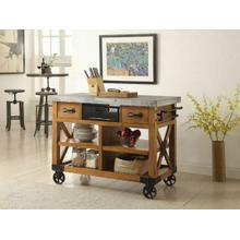 ACME Kailey Kitchen Cart - 98182 - Antique Oak
