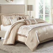 10 Pc Queen Comforter Set Sand