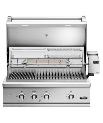 """36"""" Grill, Rotisserie and Charcoal, Lp Gas"""