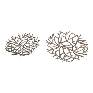 Twig Platter Silver Set Of Two
