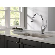 Chrome Single Handle Pull-Down Kitchen Faucet with Touch 2 O ® and ShieldSpray ® Technologies